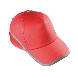 rdeča kapa 5 delna z odsevnim trakom